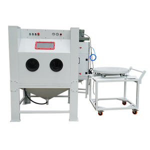 Cart Turntable Type Sandblasting Cabinet