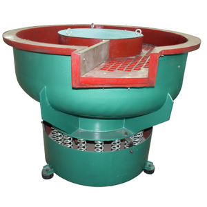 Vibratory bowl finishing machine with separator