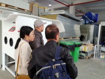 Indonesian Customers Visit Kafan, Looking for Sandblasting Solutiion